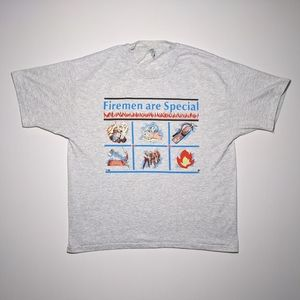 1991 Firemen are Special Single Stitch T-shirt